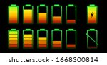 set battery with different... | Shutterstock .eps vector #1668300814
