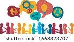 sharing ideas.communication... | Shutterstock .eps vector #1668323707