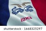 Iowa Flag Waving In The Wind....