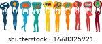 communication network diversity ... | Shutterstock .eps vector #1668325921
