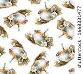 watercolor seamless background. ... | Shutterstock . vector #1668331477