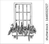 Window Flower Boxes Doodle...