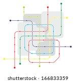 fictive network map for urban... | Shutterstock . vector #166833359