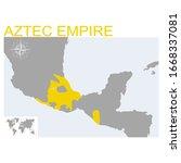 vector map of the aztec empire   Shutterstock .eps vector #1668337081