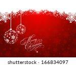 decorative christmas background ... | Shutterstock .eps vector #166834097