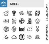 shell icon set. collection of...   Shutterstock .eps vector #1668360244