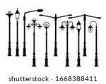 street lamp  outdoor lamp icons ...   Shutterstock .eps vector #1668388411