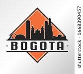 bogota  colombia skyline logo.... | Shutterstock .eps vector #1668390457