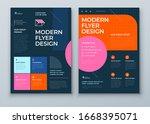 flyer template layout design.... | Shutterstock .eps vector #1668395071