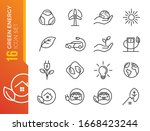 eco friendly related thin line...   Shutterstock .eps vector #1668423244