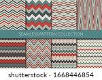 zigzag lines seamless pattern...   Shutterstock .eps vector #1668446854