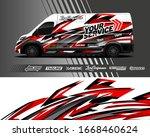 cargo van wrap decal designs.... | Shutterstock .eps vector #1668460624