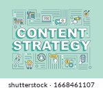 content strategy word concepts... | Shutterstock .eps vector #1668461107