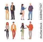 people friends colleagues...   Shutterstock .eps vector #1668467767