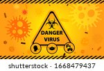 danger virus icon with yellow... | Shutterstock .eps vector #1668479437