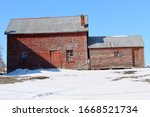 Old Abandoned Red Barn In...