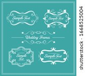 set of elegant floral monogram... | Shutterstock .eps vector #1668525004