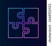 puzzle icon nolan icon. simple...