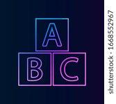 abc cube nolan icon. simple...