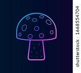 mushroom nolan icon. simple...