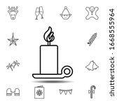candle on stand icon. simple...