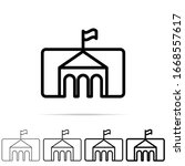 museum icon in different shapes ...