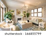 beautiful living room  | Shutterstock . vector #166855799