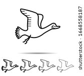 goose different shapes icon....