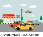 brebes indonesia  march 10 2020 ... | Shutterstock .eps vector #1668585181