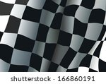 checkered race flag background | Shutterstock .eps vector #166860191