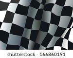 checkered race flag background | Shutterstock .eps vector #166860191