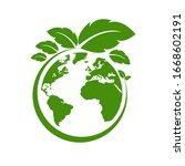 ecology world symbol  icon. eco ...   Shutterstock .eps vector #1668602191