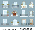 Balconies Of House Or Apartment ...