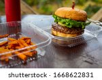 Tasty Grilled Beef Hamburger...