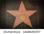 Small photo of Los Angeles - January 25, 2020: Errol Flynn's star on the Hollywood Walk of Fame