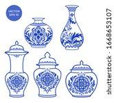 Blue Vase Isolated On...