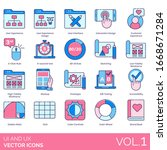 ux and ui icons including user...