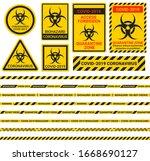 coronavirus covid 2019. warning ... | Shutterstock .eps vector #1668690127