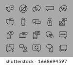 simple set of message line... | Shutterstock .eps vector #1668694597