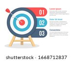 target with three elements for... | Shutterstock .eps vector #1668712837