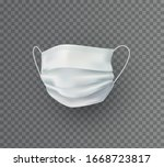mask isolated on transparent... | Shutterstock .eps vector #1668723817