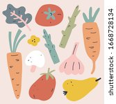 vegetables collection  set of... | Shutterstock .eps vector #1668728134