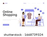 online shopping vector...