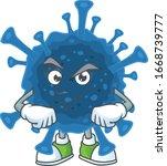 coronavirus desease mascot icon ... | Shutterstock .eps vector #1668739777