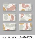 set of six vector business...   Shutterstock .eps vector #1668749374