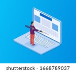 electronic contract or digital... | Shutterstock .eps vector #1668789037