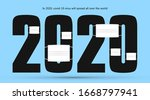 """""""2020"""" with mask  the font... 