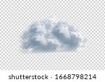 vector realistic isolated cloud ... | Shutterstock .eps vector #1668798214
