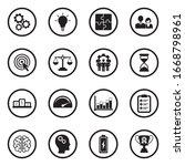 productivity icons. black flat... | Shutterstock .eps vector #1668798961