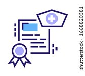 medical courses color line icon....